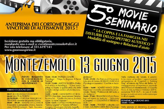 5° MOVIE SEMINARIO – Montezemolo 13 giugno 2015