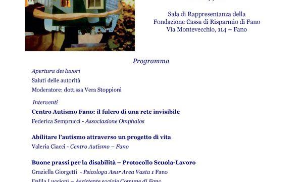 L'autismo nelle Marche verso un progetto di vita: passato, presente, futuro