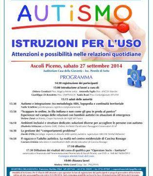 """Seminario """"Autismo"""" Istruzioni per l'uso"""