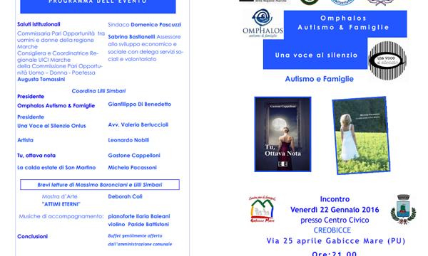 """Presentazione libro """"Tu, Ottava Nota"""" – Gabicce Mare (PU)"""
