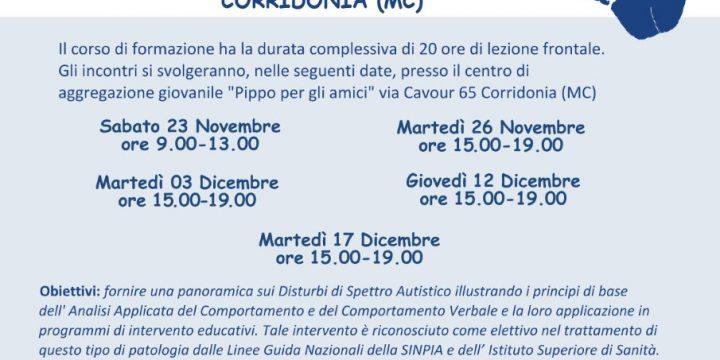"""Il Corso Base """"Autismo e Analisi Applicata del Comportamento"""" a Corridonia"""